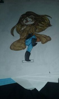 me as chibi...it's old but okay by thefatlameartist
