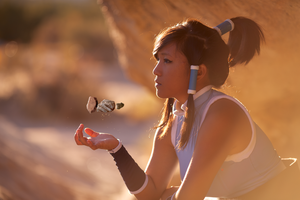 Korra Cosplay - Patiently Earthbending by eloquium