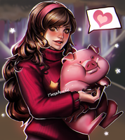 Mabel and Waddles (Gravity falls) by MaterArsenic