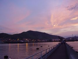 Harbour sunset by harajuku-lovers