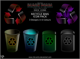 Black Pearl Recycle Bins by NiTE-ANTiX