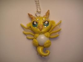 Yellow Dragon With A Pearl by XDtheBEASTXD