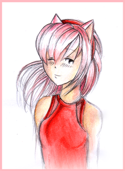 Human Amy Rose by GothicAmyRose