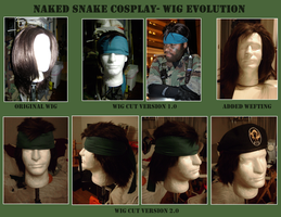 Naked Snake Wig v.2 Evolution by SnowBunnyStudios
