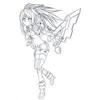White Rock Shooter LineArt by Trinity-In-Rainbows