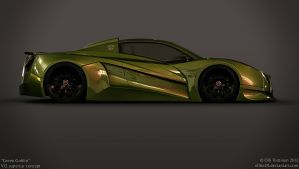 V12 supercar concept - Green Goblin - 7 by ollite20