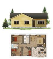 Floor  plan + elevation by TALENS3D