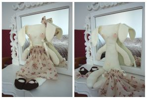 Annabel the rag-rabbit by kittyvane