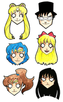 Sailor Moon Gang by surrealtoons