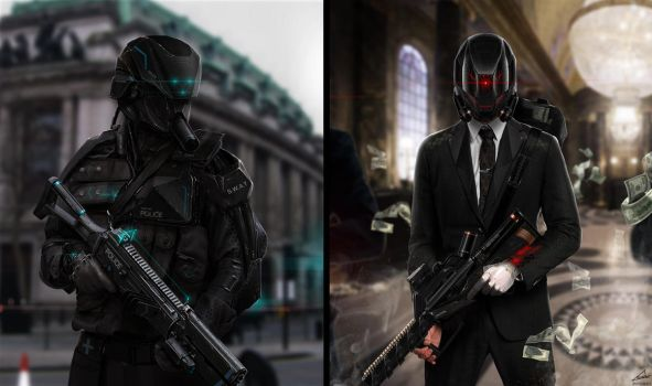 THE HEIST  [Sci-Fi Concept] by nobody00000000