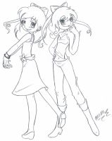 Melody and Erica- RQ by Inked-Alpha