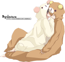 Anime Couple - Bear Suit by MikuShooter