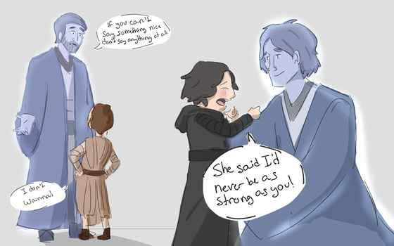 Seven Days of Star Wars: Day 4-  Young Padawans by The-Brave-Kitten