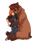 .: A Big Bear Hug:. by Sofy-Senpai