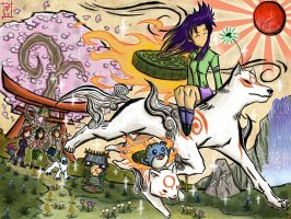 Hanyou Meets Okami World by Patrick-Theater