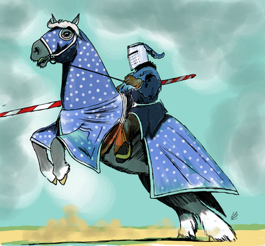 Jousting Knight by Borovous