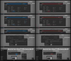 Numix Dark Blue and Red For Win10 Anniversary by Cleodesktop
