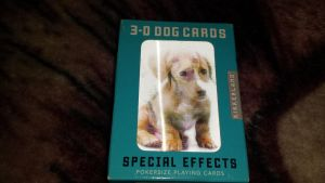 3D dog playing cards by Akitas237collections