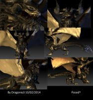 Bull Dragon Full 3D Model by Dragonio3