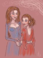 young cat and lysa by kaleadora