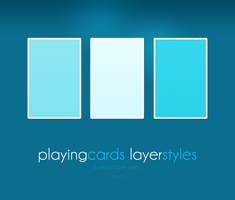 Playng Cards layer styles by Idered