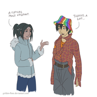 Percy Jackson-- Typical Male Vagrant by Golden-Flute