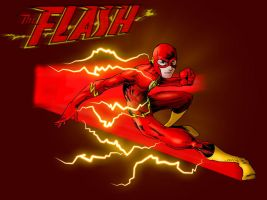 The Flash in colour by ParisAlleyne