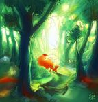 Fox in the forest V01 by merry-zazoue