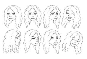 Expression sheet for Tazzilynumeral by Taracu