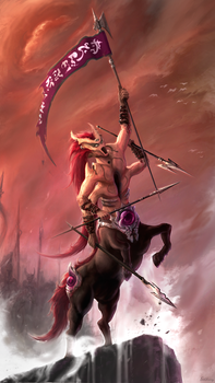 Blood Centaur by ExCharny