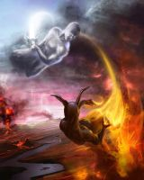 Element's fight by artozi