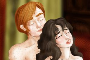 Ron and Hermione by Hollyboo2001