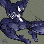 Symbiote suit Spiderman by NoBullet