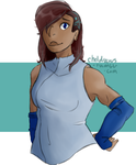 korra with an undercut by ChelberNo1
