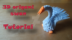 How to make a 3D Origami Swan model #1 by IDEAndo-art