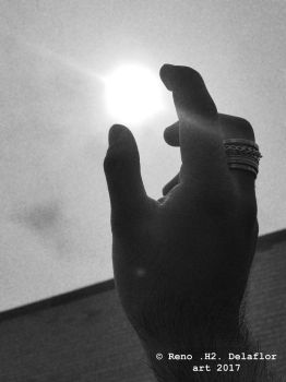 Pluck the sun (BW) by DocRODIN