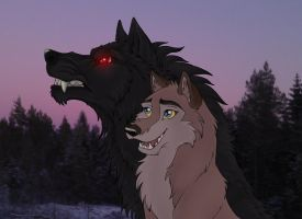 Eran and Aleu by EmberWolfsArt