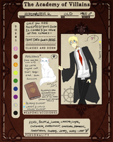 Character Design Sheet Example - Headmaster K by kikikittykat