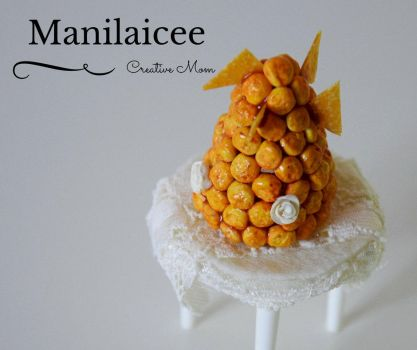 Dollhouse miniature food Croquembouche by Manilaicee