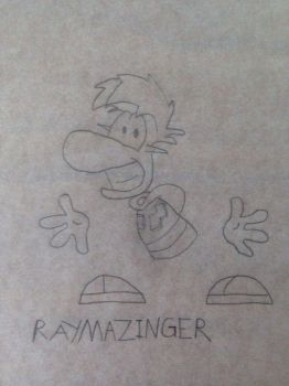 RayMazinger (uncolored) by Haddad062