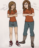 our camp half-blood selves by Deesney