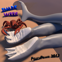 Shark Week Feet: Rude awakening on the beach by foxypaws86