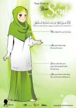 Dress Instruction for Muslimah English Version by zenvuitton