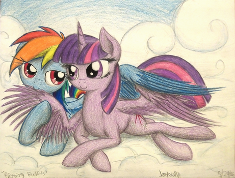 Preening Buddies (Commission for DonParpan) by TheFriendlyElephant