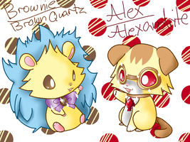 Alex and Brownie by Chaomaster1