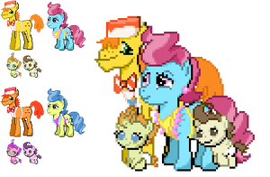 Ponymon Sprites : Cake Family by DMN666