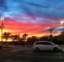 Parking lot Sunset 2 by TheGerm84