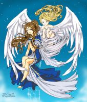Belldandy and Holy Bell by Wingsofnina