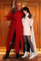 Vash and Meryl by Angel-Aiko
