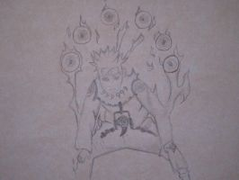 naruto kyuubi controlled mode by auraforce